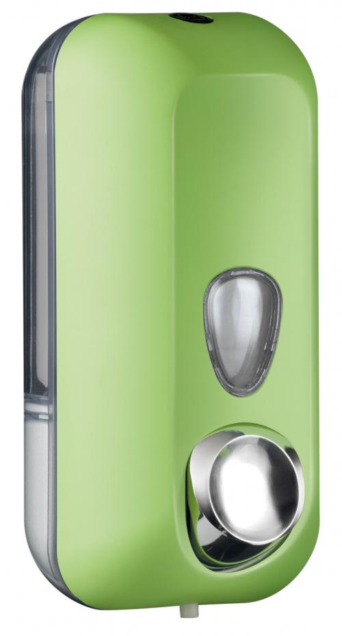Cleanpaper Design Kunststoff Seifenspender grün mit Softtouch Oberfläche