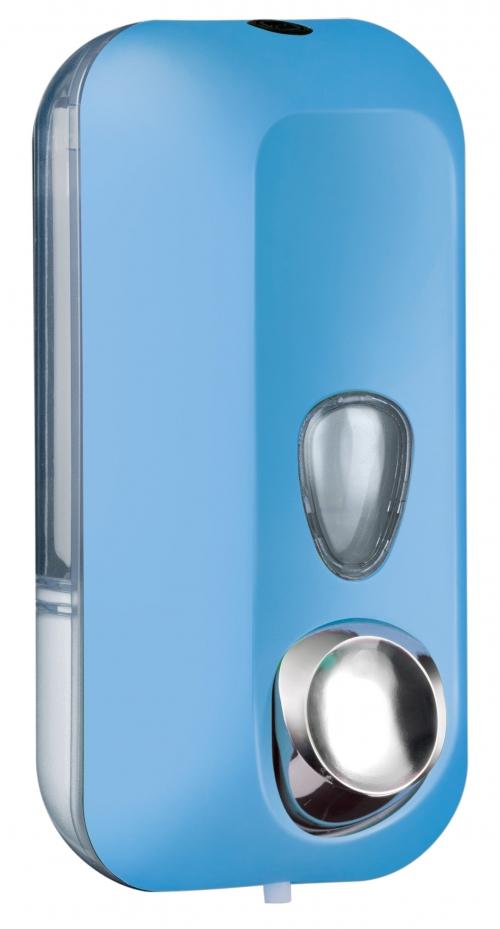 Cleanpaper Design Kunststoff Seifenspender hellblau mit Softtouch Oberfläche