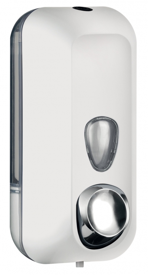 Cleanpaper Design Kunststoff Seifenspender weiß mit Softtouch Oberfläche