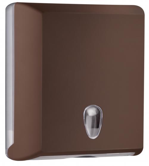 Cleanpaper Design Kunststoff Falthandtuchspender braun mit Softtouch Oberfläche