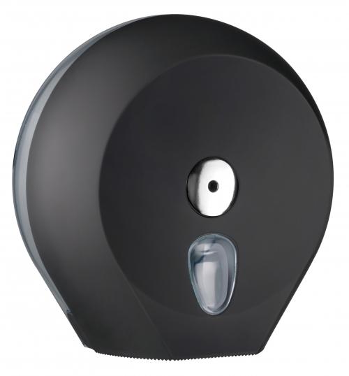 Cleanpaper Design Jumbo Kunststoff Toilettenpapierspender schwarz mit Softtouch Oberfläche