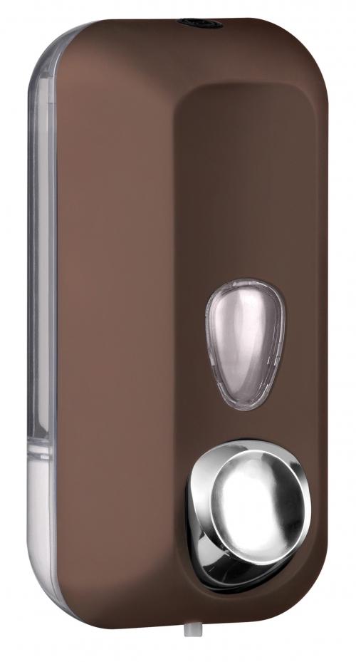 Cleanpaper Design Kunststoff Seifenspender braun mit Softtouch Oberfläche