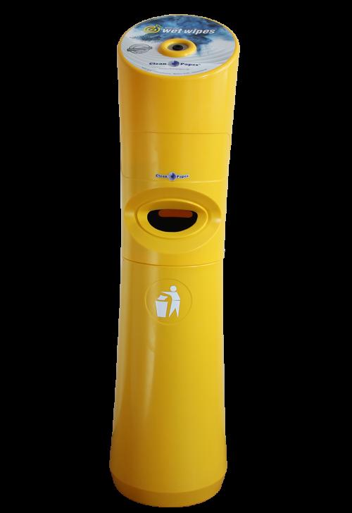 Spender für Desinfektionstücher Gelb