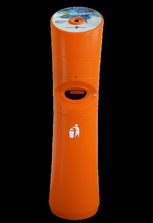Spender für Desinfektionstücher Orange
