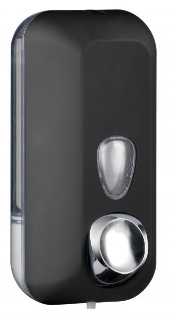 Cleanpaper Design Kunststoff Seifenspender schwarz mit Softtouch Oberfläche