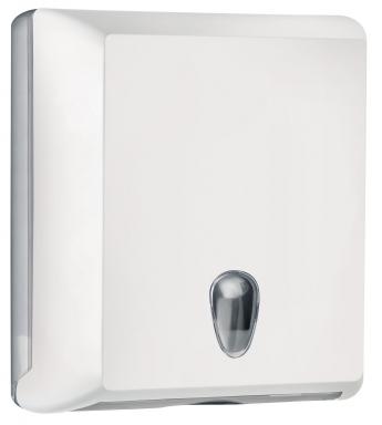 Cleanpaper Design Kunststoff Falthandtuchspender weiß mit Softtouch Oberfläche
