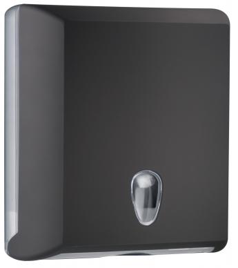 Cleanpaper Design Kunststoff Falthandtuchspender schwarz mit Softtouch Oberfläche