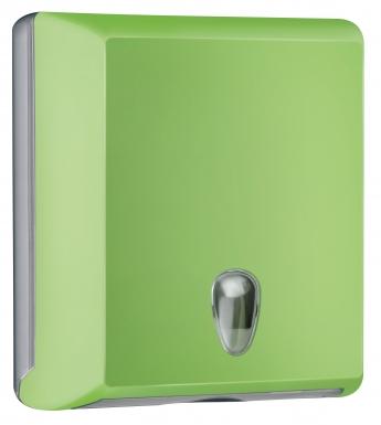 Cleanpaper Design Kunststoff Falthandtuchspender grün mit Softtouch Oberfläche
