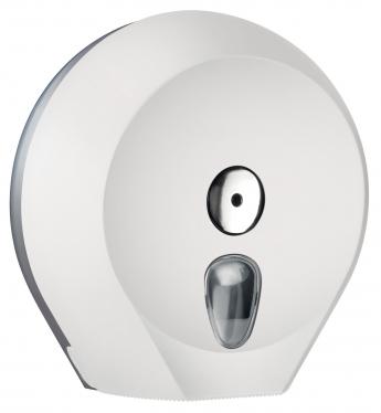 Cleanpaper Design Jumbo Kunststoff Toilettenpapierspender weiß mit Softtouch Oberfläche