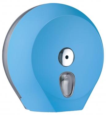 Cleanpaper Design Jumbo Kunststoff Toilettenpapierspender hellblau mit Softtouch Oberfläche