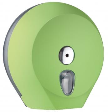 Cleanpaper Design Jumbo Kunststoff Toilettenpapierspender grün mit Softtouch Oberfläche
