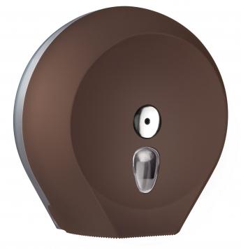 Cleanpaper Design Jumbo Kunststoff Toilettenpapierspender braun mit Softtouch Oberfläche