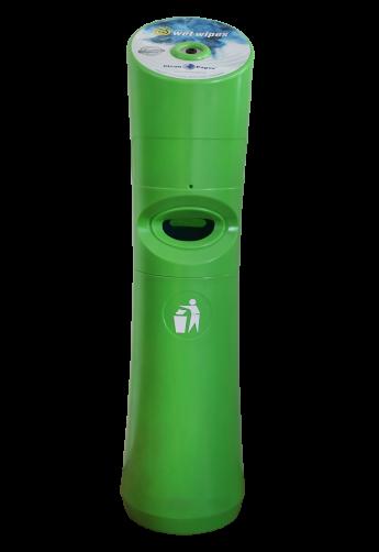 Spender für Desinfektionstücher Grün