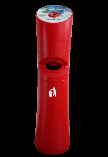 Spender für Desinfektionstücher Rot